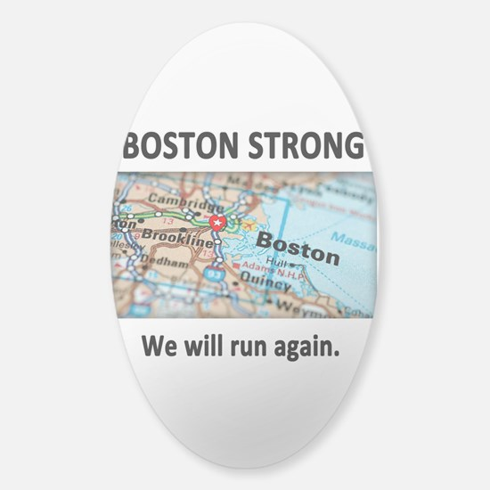 Boston Strong Map Sticker (Oval)