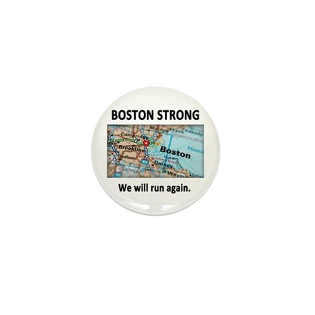 Boston Strong Map Mini Button (10 pack)