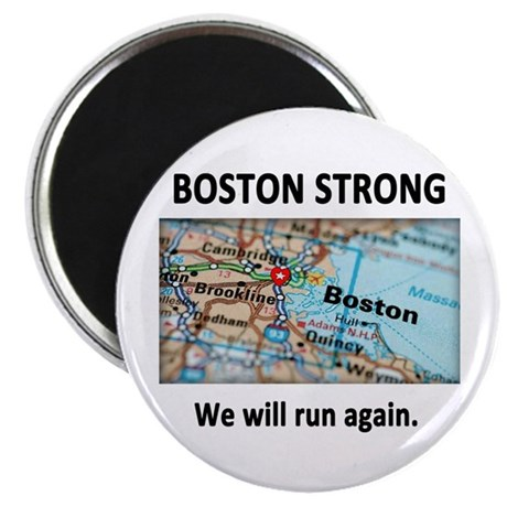 Boston Strong Map Magnet