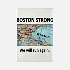 Boston Strong Map Rectangle Magnet