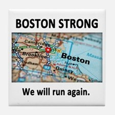 Boston Strong Map Tile Coaster