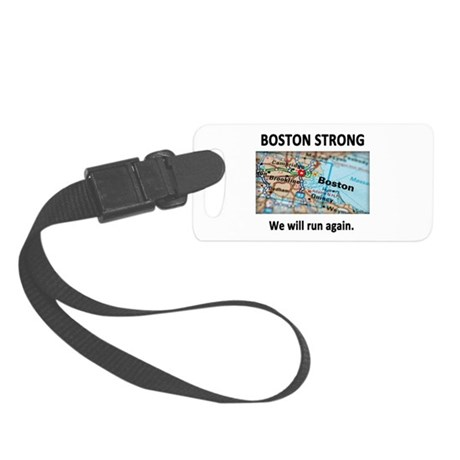 Boston Strong Map Small Luggage Tag