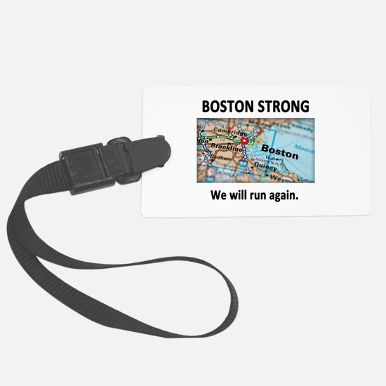 Boston Strong Map Luggage Tag