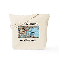 Boston Strong Map Tote Bag