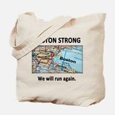Boston Strong Map Tote Bag