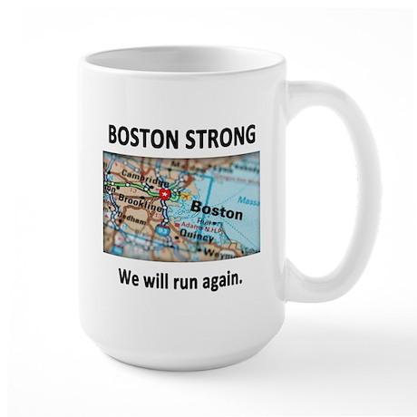 Boston Strong Map Large Mug