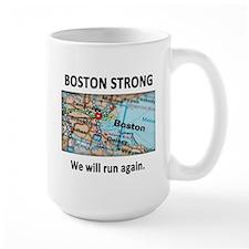 Boston Strong Map Mug