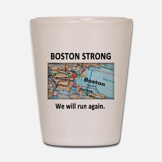 Boston Strong Map Shot Glass