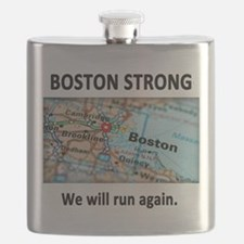 Boston Strong Map Flask