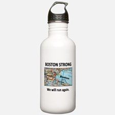 Boston Strong Map Water Bottle