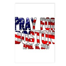 Pray For Boston Flag Postcards (Package of 8)