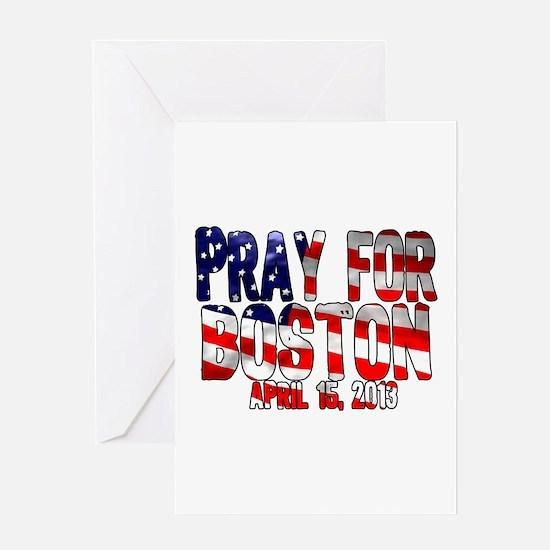 Pray For Boston Flag Greeting Card