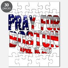 Pray For Boston Flag Puzzle
