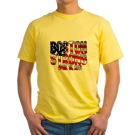 Boston Strong Flag Yellow T-Shirt