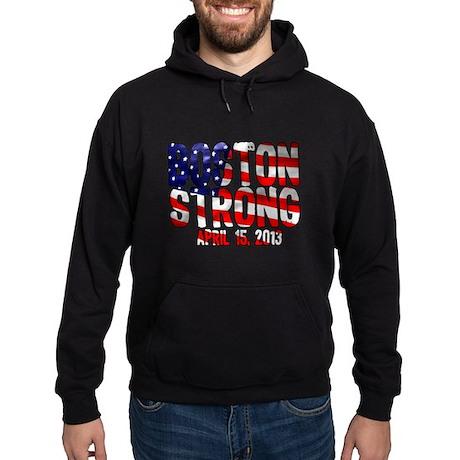 Boston Strong Flag Hoodie (dark)