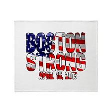 Boston Strong Flag Throw Blanket