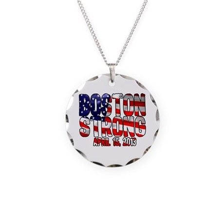 Boston Strong Flag Necklace Circle Charm