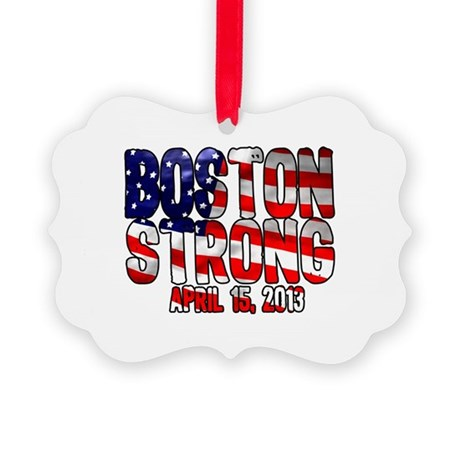 Boston Strong Flag Picture Ornament