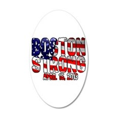 Boston Strong Flag 20x12 Oval Wall Decal