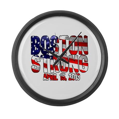 Boston Strong Flag Large Wall Clock