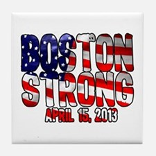 Boston Strong Flag Tile Coaster