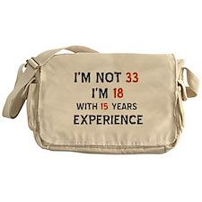 33 year old designs Messenger Bag