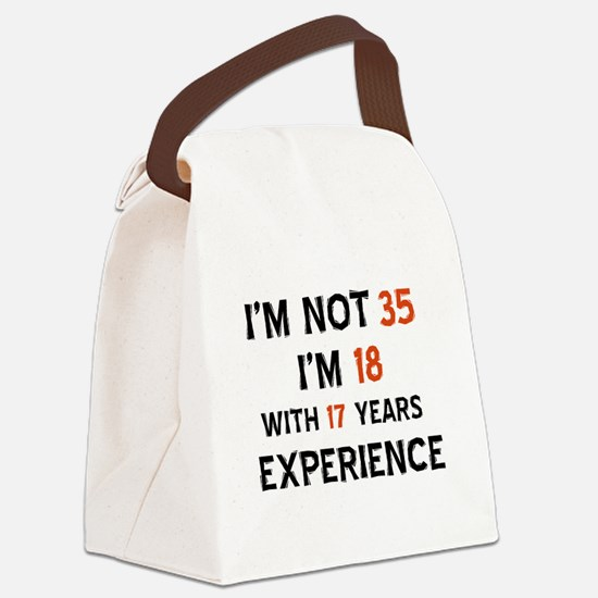 35 year old designs Canvas Lunch Bag