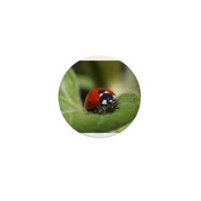 Ladybug on a Leaf Mini Button (10 pack)