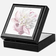 Elegant White Peony Keepsake Box