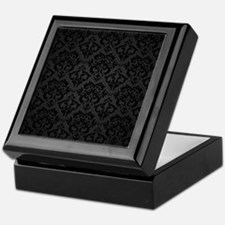 Elegant Black Flourish Keepsake Box