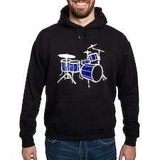 Cool Drum Set (dark blue version) Hoodie