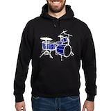 Drum blue Hoodie (dark)