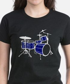 Cool Drum Set (dark blue version) Tee