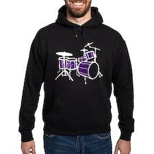 Cool Drum Set (dark violet version) Hoodie
