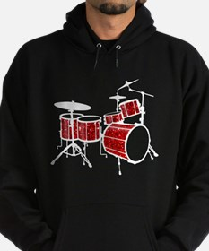 Cool Drum Set (red version) Hoodie