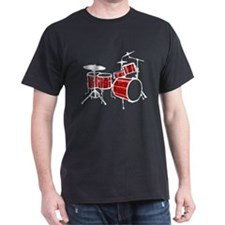 Cool Drum Set (red version) T-Shirt