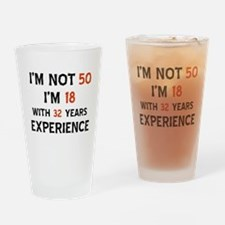 50 year old designs Drinking Glass