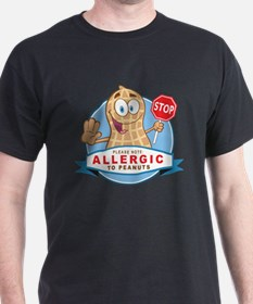 Allergic to Peanuts T-Shirt