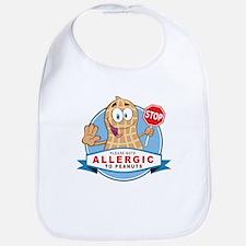 Allergic to Peanuts Bib