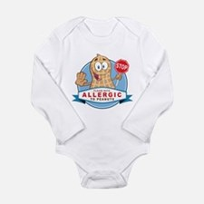 Allergic to Peanuts Long Sleeve Infant Bodysuit
