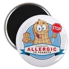 "Allergic to Peanuts 2.25"" Magnet (10 pack)"