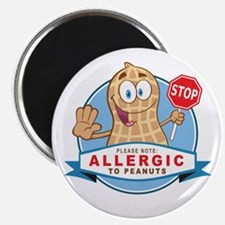 """Allergic to Peanuts 2.25"""" Magnet (100 pack)"""