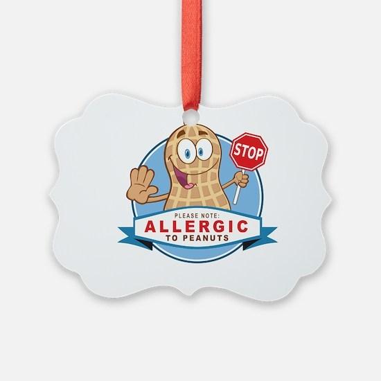Allergic to Peanuts Ornament