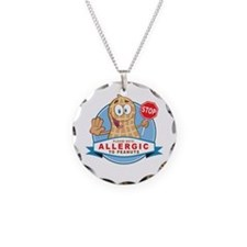 Allergic to Peanuts Necklace Circle Charm