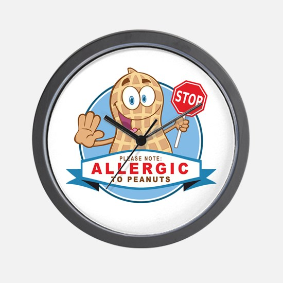 Allergic to Peanuts Wall Clock