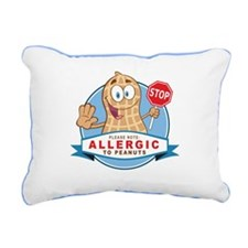 Allergic to Peanuts Rectangular Canvas Pillow