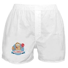 Allergic to Peanuts Boxer Shorts