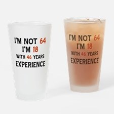 64 year old designs Drinking Glass