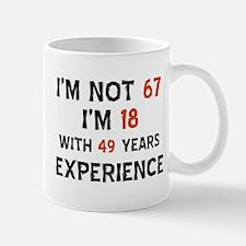 67 year old designs Small Small Mug