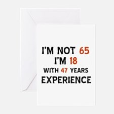 65 year old designs Greeting Cards (Pk of 20)